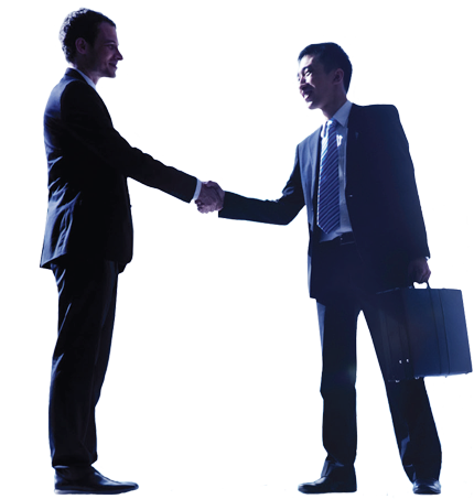 Image of people handshaking